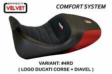 Ducati Diavel 2014 - 2017 Tappezzeria Italia Red Seat cover Anti slip Design