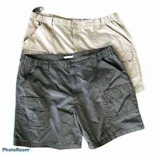 60 Chinchilla Savane Mens Flat Front Flex-On Solid Short