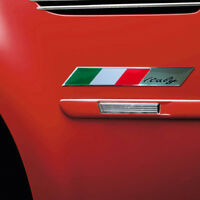 100mm*15mm Italy Italian Flag Emblem Metal Car Motorcycle Decor Sticker Badge