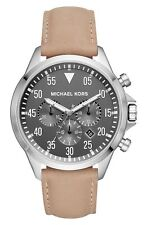 Michael Kors Men's Gage Smooth Taupe Leather Chronograph Watch MK8616 NEW !!!