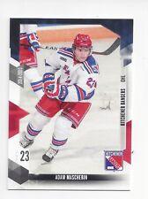 2014-15 Kitchener Rangers (OHL) Adam Mascherin **FIRST CARD**