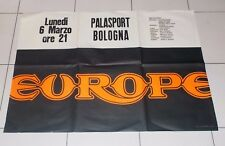 Manifesto EUROPE The Band Tour Concerto BOLOGNA anni 80 - POSTER 99x69 cm Italy