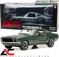 """PREORDER - GREENLIGHT 12822 1:18 1968 FORD MUSTANG FASTBACK """"BULLITT"""" GREEN"""