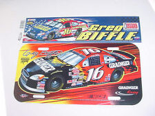 "NEW! GREG BIFFLE WinCraft NASCAR 12""X3"" BUMPER STICKER & 12""X6"" LICENSE PLATE"