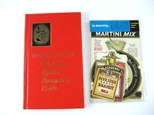 Old Mr. Boston Bartender's Guide Deluxe Edition Official 1967 & Stickers Vintage