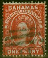 Bahamas 1882 1d Scarlet-Vermilion SG42 Fine Used