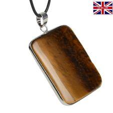 Tigers Eye natural raw Pendant Necklace Gem stone quartz healing UK seller