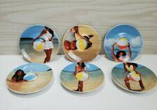 Illy Collection 2002 Marina Abramovic Beach Theme: 6 Espresso Saucers
