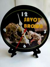 SAVOY BROWN - LOOKING IN - 5 INCH DESKTOP CLOCK - BLACK STAND AND GIFT BOX