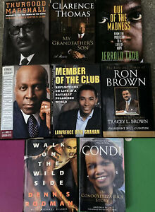 Lot of 8 Autobiography Books African American History