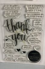 Hero Arts Thank You Stamp Set With Thank you Die.