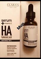 Clara's New York Serum + Vitamin E Hyaluronic Acid 1 oz For All Skin Types