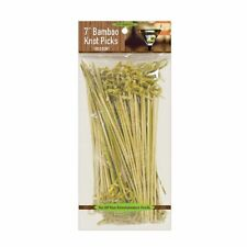100pcs Bamboo Cocktail Fruit Sticks Knotted Picks Party Food Drink Decor
