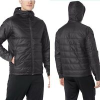 New Peak Velocity Men's Insulated Hoodie Athletic Fit Jacket Black Medium