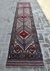 2'6 x 12'10 ft Handmade vintage afghan tribal berjesta wool persian runner rug