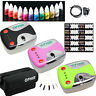OPHIR 12 Color Nail Inks Pigment Airbrush Gun Air Compressor Kit With Nail Parts