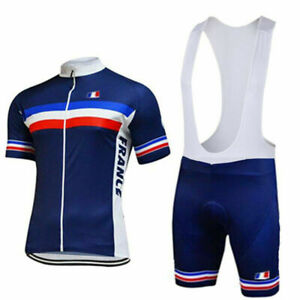 FRANCE FRENCH Cycling Jersey And Bib Shorts Sets