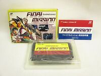 FINAL MISSION Item ref/058 Famicom Nintendo Japan Game fc