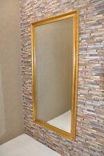 Gold Wandspiegel 164x084 cm Vintage Groß Neu Zierspiegel Elegant Schmaler Rahmen