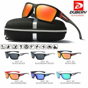 DUBERY Polarized Sunglasses Square Sport Driving Fishing Cycling Driving Eyewear