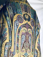 "New BREATHTAKING ETRO cashmere silk dress shawl SCARF, 67""x27"",canary Yellow"