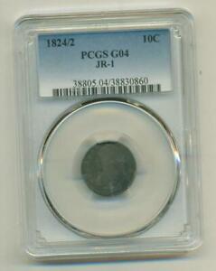 PCGS GOOD-4 1824/2 BUST DIME
