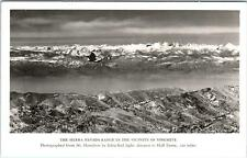 RPPC  YOSEMITE NATIONAL PARK , CA California VIEW from MT HAMILTON   c1950s
