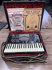 Vintage POLLINA Accordion w/ Hard Case & Sheet Music Rare!