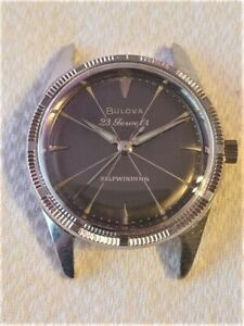 Selling Used Vintage Bulova 23 Jewel Wrist Watch in a Stainless-Steel Case
