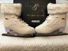 New Roces Women's Fur Ice Skate Superior Italian Style 450618 00001 Nib