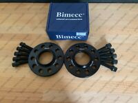 BIMECC ALLOY WHEEL SPACERS + TAPERED BOLTS 15MM 5X112 57.1MM AUDI A3 S3 8P PAIR