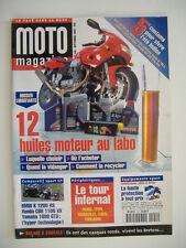 MOTO MAGAZINE 140 BMW K 1200 RS-CBR 1100 XX-YAM 1000 GTS-HONDA 750 VFC-HARLEY