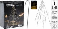 LED Lichterkette Weihnachtsbaum Strom 192 400 warmweiß Fahnenstange Fahne Tanne