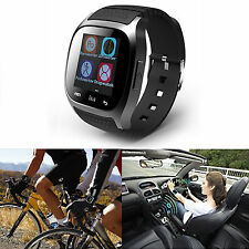 Black Bluetooth Smart Watch For Samsung Galaxy S6 S7 Alcatel One Touch C9 LG G2