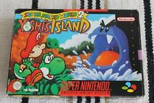 SNES SUPER MARIO WORLD 2 YOSHIS ISLAND  PAL 100% ORIGINAL BOXED NO MANUAL