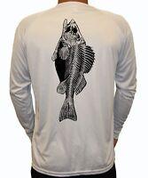 Scuba Diver Diving Logo Long Sleeve UPF 30 T-Shirt Sport Fish Boat UV Protection