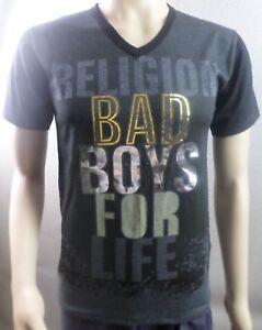 New Religion Bad Boys for Life Logo T-shirt Top - Mens Size Medium