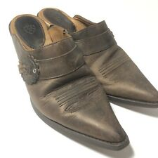 Ariat 9 Brown  Cowboy Western Mule Slip On Shimmer Strap Pointed Toe  97702