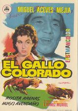 Programa de CINE. Título: EL GALLO COLORADO.
