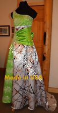 NEW Camo & lace Wedding Gown/Truetimber Camo- 'Ema' MADE ONLY IN USA!