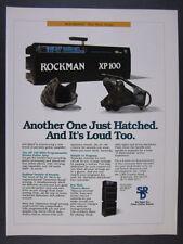 1989 Scholz ROCKMAN XP-100 XP100 Guitar Amp Amplifier vintage print Ad