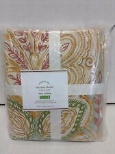 Pottery Barn Catrina Paisley Bed Duvet Cover Floral Cal King Orange Blue Multi
