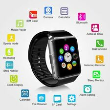 """2017 1.54"""" GT08 Touch Screen Bluetooth Smart Watch Phone Mate for Android Black"""