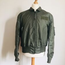 Vintage 90s USAF CWU 36/P ( MA-2 summer) Flight Jacket Scovill Zip XL / L