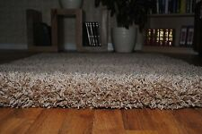 """Soft Thick Plain Small Extra Large Shaggy 5 Cm Pile Size Modern Non Shed Rugs Beige 80x150cm (2'6""""x5'0"""")"""