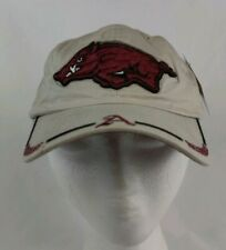 NCAA Arkansas Razorbacks Tan Embroidered Strapback Dad Hat  Cap Deadstock NWT