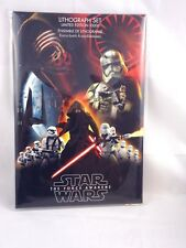 Disney Store Star Wars: Force Awakens Limited Edition Lithograph Set of 7 NEW