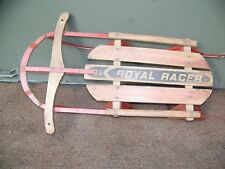 "36"" Royal Racer  Vintage Mid Century Wooden Sled  WAXED AND READY"
