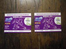 TICKET FOOTBALL 1 INVITATION CINEY GEEL COUPE DE BELGIQUE 2011/2012
