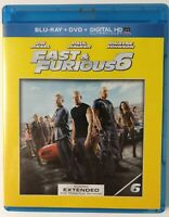 Fast and Furious 6 (Blu-ray+DVD, 2013) Vin Diesel, Paul Walker, Dwayne Johnson